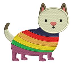 Pride Cat embroidery design