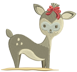 Bambi Deer embroidery design