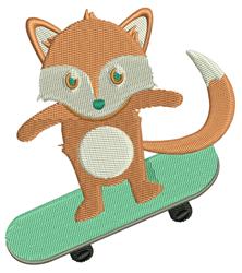 Skateboard Fox embroidery design