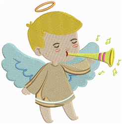 Music Angel embroidery design