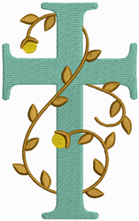 Cross And Vine embroidery design