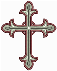 Ornate Rustic Cross embroidery design