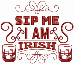 Sip Me embroidery design