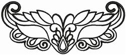 Ornamental Mask embroidery design
