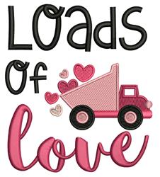 Loads O Love embroidery design
