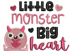Little Monster, Big Heart embroidery design