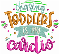 Chasing Todlers embroidery design