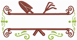 Gardening Tools Border embroidery design