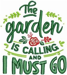 Garden Is Calling embroidery design