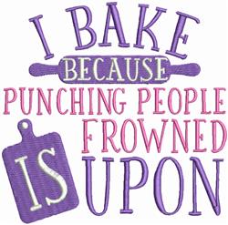 I Bake embroidery design