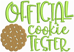 Offical Cookie Tester embroidery design