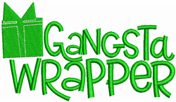 Gangster Wrapper embroidery design