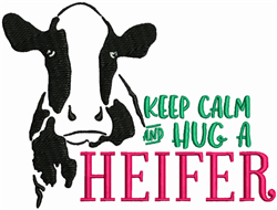 Hug A Heifer embroidery design