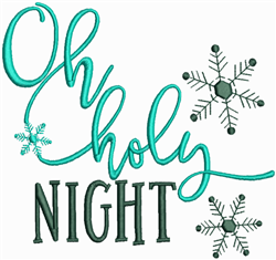 Oh Holy Night embroidery design