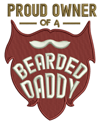 Bearded Daddy embroidery design