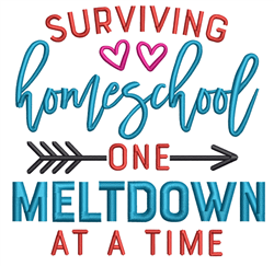 Surviving Home School embroidery design