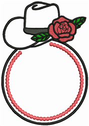 Monogram Cowboy Hat embroidery design