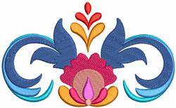 Flower Border embroidery design