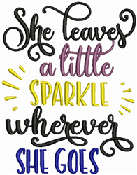 Leave A Little Sparkle embroidery design