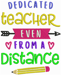 Distance Teaching embroidery design