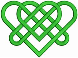 Celtic Hearts embroidery design