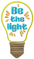 Be The Light embroidery design