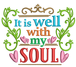 It Is Well embroidery design