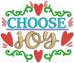 Choose Joy embroidery design