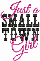 Small Town Girl embroidery design
