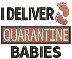 Quarantine Babies embroidery design