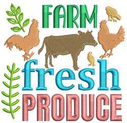 Farm Fresh Produce embroidery design