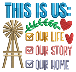 This Is Us embroidery design