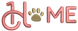 Home Paw embroidery design