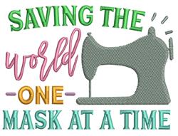 Saving The World embroidery design