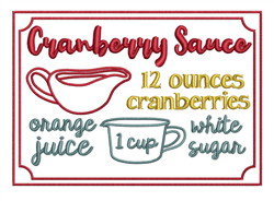 Cranberry Sauce embroidery design