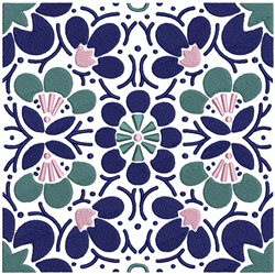 Floral Square Pattern embroidery design