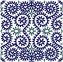 Abstract Quilt Pattern embroidery design