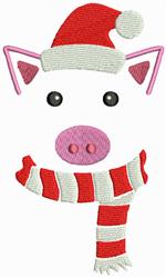 Christmas Pig embroidery design