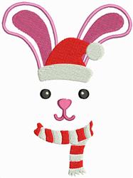Christmas Bunny embroidery design