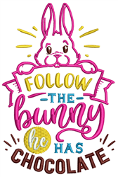 The Bunny Has Chocolate embroidery design