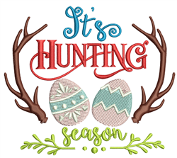 Its Hunting Season embroidery design