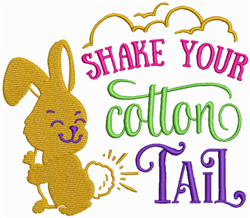 Shake Your Cotton Tail embroidery design