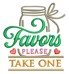 Favors embroidery design