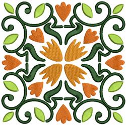 Autumn Quilt Block embroidery design