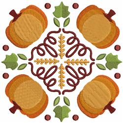 Pumpkin Quilt Block embroidery design