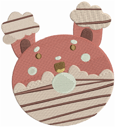 Teddy Bear Donut embroidery design