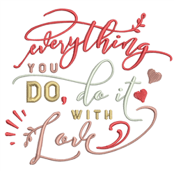 Do It With Love embroidery design
