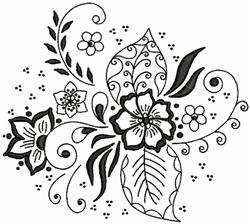 Flower Print embroidery design