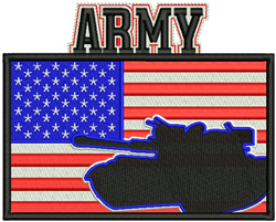 American Flag Army embroidery design