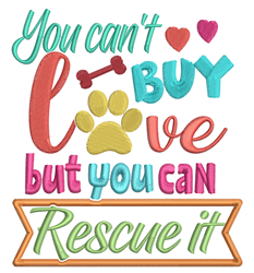 You Can Rescue Love embroidery design